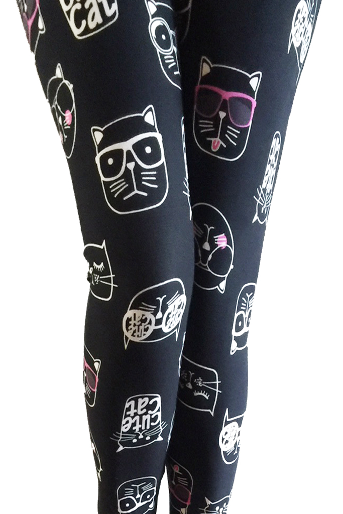 Cat line print Leggings
