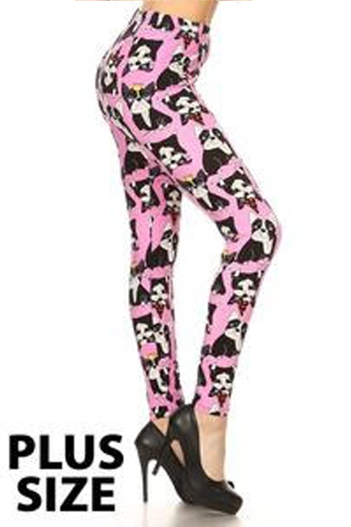 Bull Dogs printed leggings- Plus Size