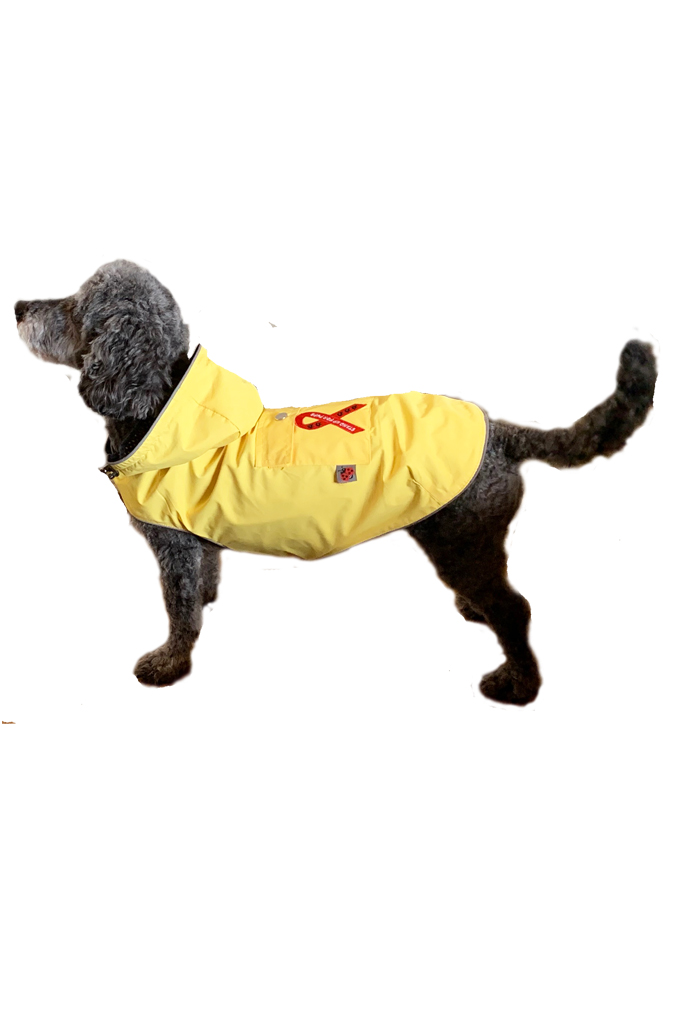 Yellow Mandi and Marley Moments Lightweight Waterproof Dog Raincoat