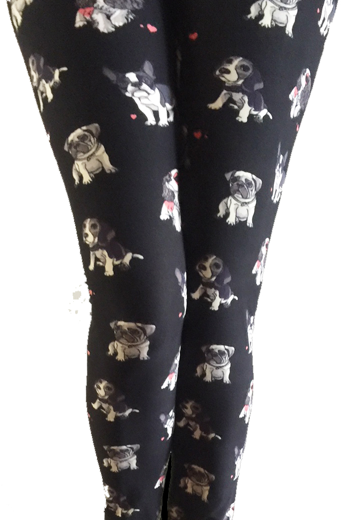 Multi dogs printed leggings