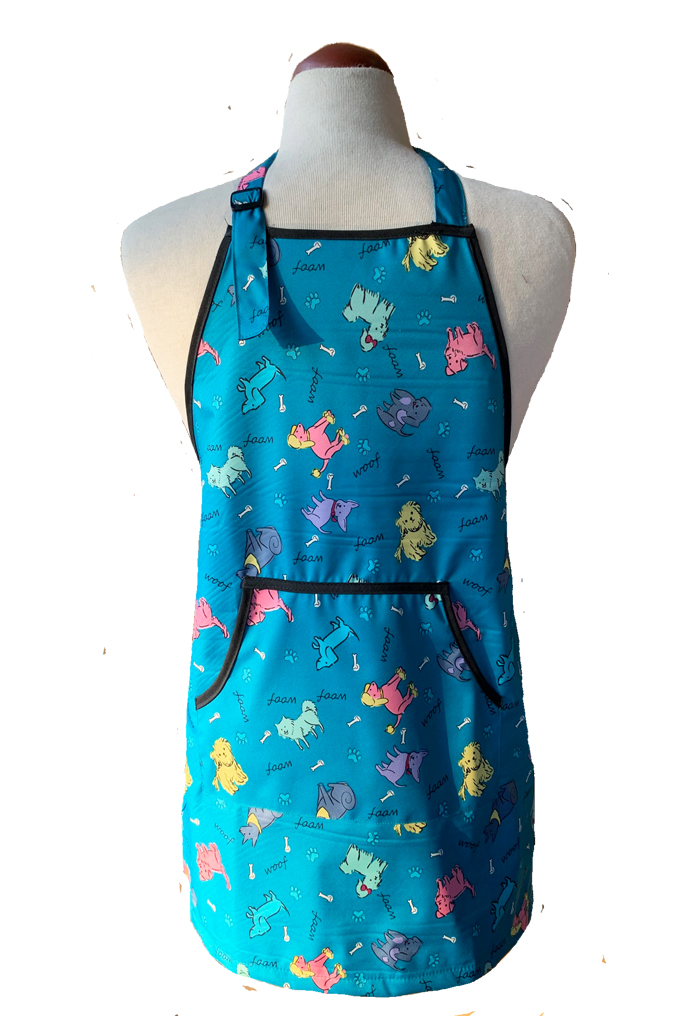 Kid's Waterproof Apron- Blue Dogs