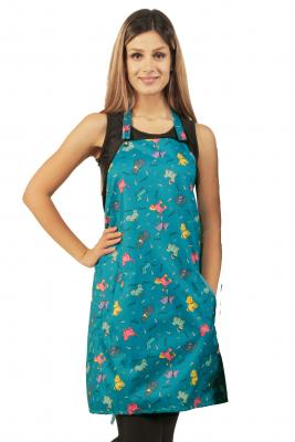 Blue Dog Print Waterproof Dog Bather's Apron