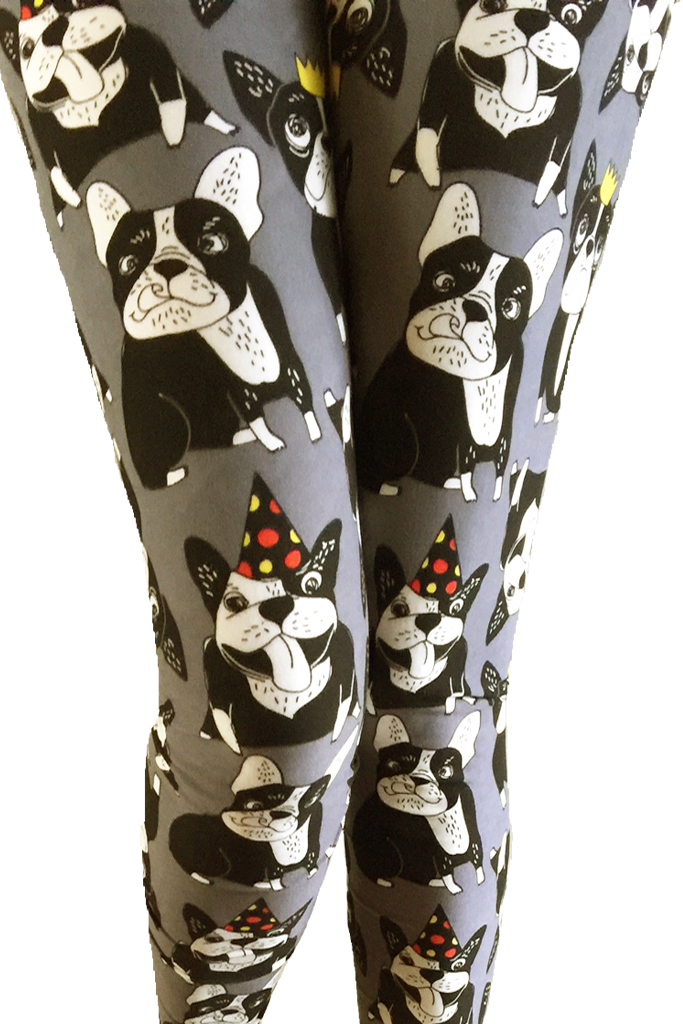 Bull Dogs Gray printed leggings