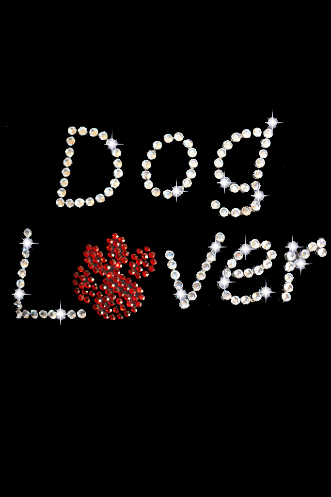 Dog Lover Rhinestone Transfer Iron On