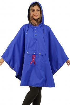 Blue Lightweight Waterproof Poncho