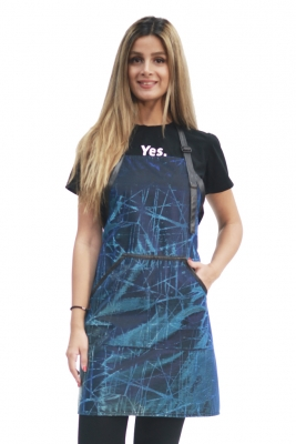 Sparkling Grooming Apron-Blue