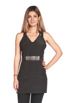 V-Neck Black Apron
