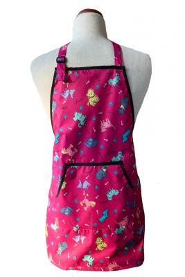 Kid's Waterproof Apron- Pink Dogs
