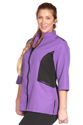 Color Block Stylist Jacket - Purple