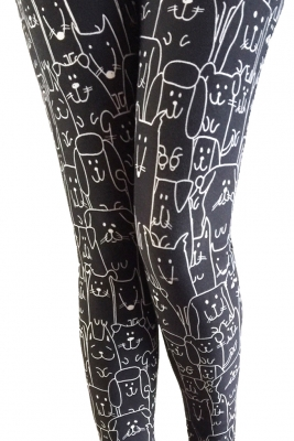 Dog line print leggings