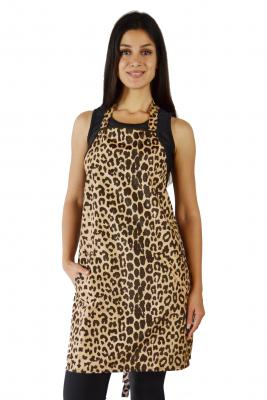Leopard Print Waterproof Dog Bather's Apron