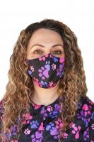Pink and Purple Paw Print Masks-2 Masks