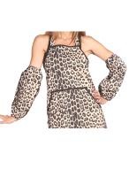 Leopard Print Dog Bathing Sleeves